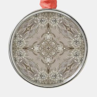Art Deco Glamorous Great Gatsby Rhinestone Lace Metal Ornament
