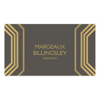 Art Deco Glamour I Interior Designer Boutique Business Card Templates