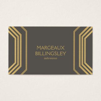 Art Deco Glamour I Interior Designer, Boutique Business Card