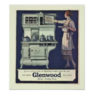 Art Deco Glenwood Stove Poster