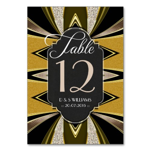 Art Deco Gold Coffee Chalkboard Table Number Cards Table Cards