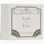 Art Deco Gold Posh Wedding Binder Binders