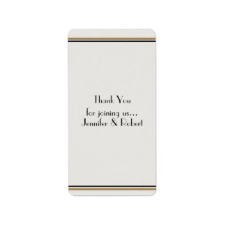 Art Deco Gold Posh Wedding Label Personalized Address Labels