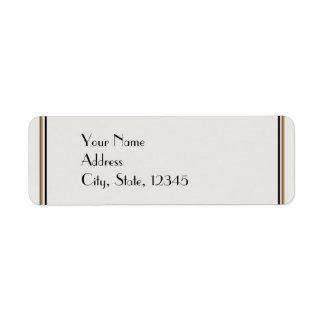 Art Deco Gold Posh Wedding Label Return Address Labels