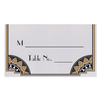 Art Deco Gold Posh Wedding Place Cards Double-Sided Standard Business Cards (Pack Of 100)