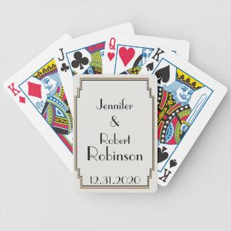 Art Deco Gold Posh Wedding Deck Of Cards
