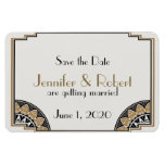 Art Deco Gold Posh Wedding Save the Date Magnet