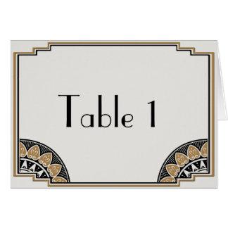 Art Deco Gold Posh Wedding Table Number Card