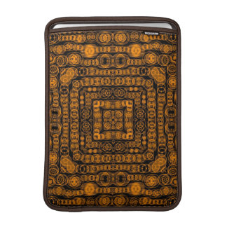 Art Deco Gold Retro Squares Abstract Art MacBook Sleeves