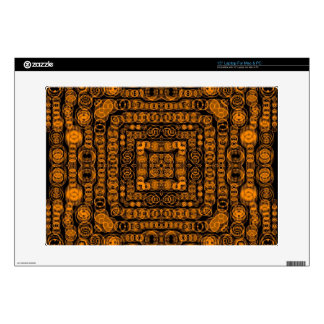 Art Deco Gold Retro Squares Abstract Art Laptop Decals