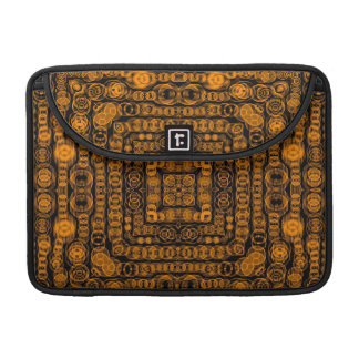 Art Deco Gold Retro Squares Abstract Art Sleeve For MacBook Pro