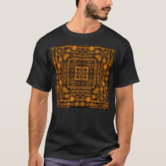 Art Deco Gold Retro Squares Abstract Art T-Shirt