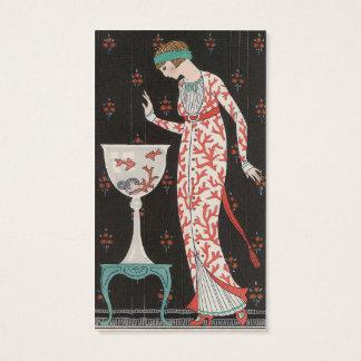 Art Deco Goldfish Business Cards