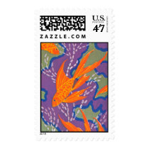 Art Deco Goldfish Postage
