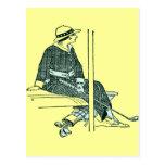 ART DECO GOLFER POST CARD