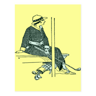 ART DECO GOLFER POSTCARD