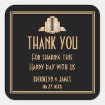 Art Deco Great Gatsby Black Wedding Stickers