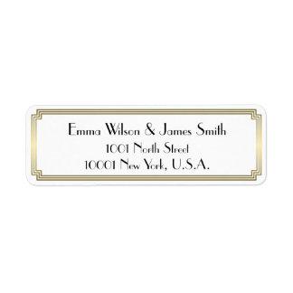 Art Deco Great Gatsby Gold Return Address Labels
