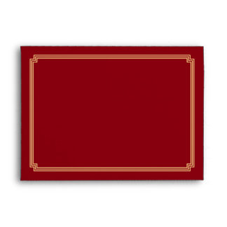 Art Deco Great Gatsby Red A7 Wedding Envelopes