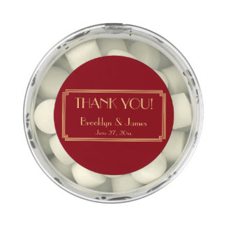 Art Deco Great Gatsby Red Gold Wedding Favors Chewing Gum