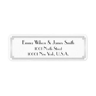 Art Deco Great Gatsby Silver Return Address Labels
