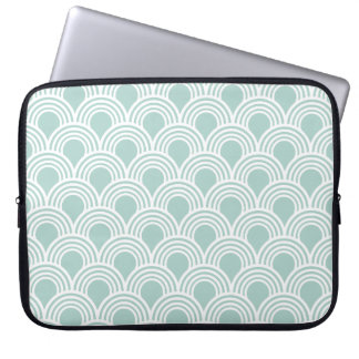 Art Deco Great Gatsby Style Mod Shell Pattern Computer Sleeve