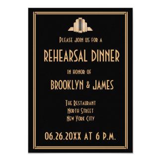 Art Deco Great Gatsby Wedding Rehearsal Invites