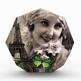 art deco green butterfly vintage gatsby girl award