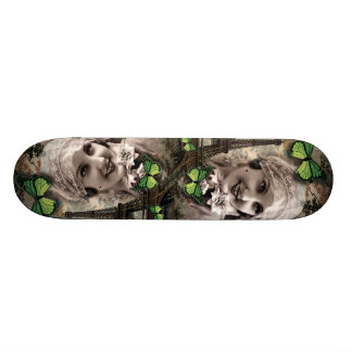 art deco green butterfly vintage gatsby girl skateboard deck