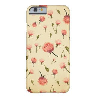 Art déco grisáceo femenino de los años 20 del rosa funda de iPhone 6 slim