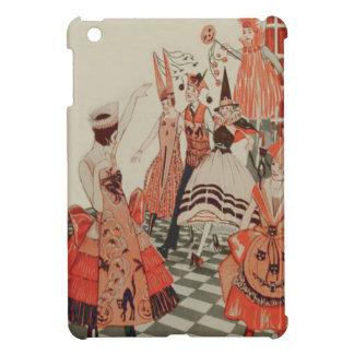 Art Deco Halloween Party Black Cat Pumpkin iPad Mini Cover