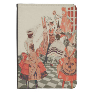 Art Deco Halloween Party Black Cat Pumpkin Kindle Touch Case