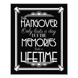 Art deco hangover party sign wedding sign, navy photo print