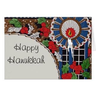 Art Deco Hanukkah Candle Card