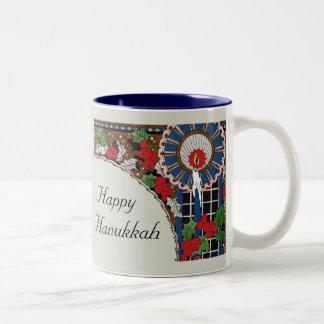 Art Deco Hanukkah Candle Two-Tone Coffee Mug