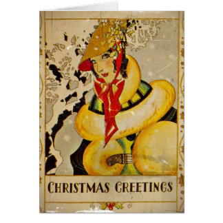 Art Deco Holiday Greeting Card