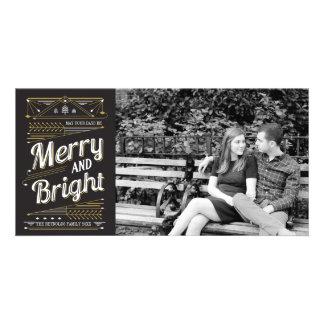 Art Deco Holiday Photo Card