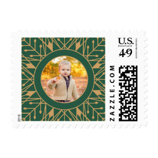 Art Deco Holiday Postage Stamps