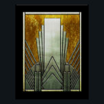 """Art Deco Iconic Poster. Poster<br><div class=""""desc"""">Here is a new poster, with an iconic shape of Art Deco in a metal effect on a black background. This poster is very striking and would make an amazing picture for your wall. Personal crafts. You can choose which size poster or canvas you would like from the menu on...</div>"""