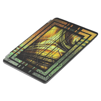 Art Deco In Green And Gold iPad Air Cover