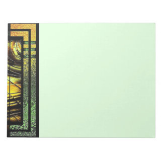 Art Deco In Green And Gold Note Pad