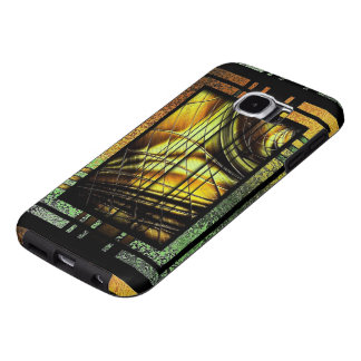 Art Deco In Green And Gold Samsung Galaxy S6 Cases