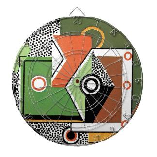 Art Deco in Green Dartboard With Darts