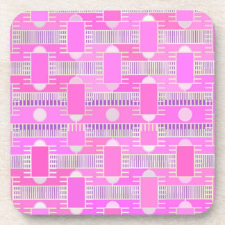 Art Deco industrial chic - pink, mauve Beverage Coaster