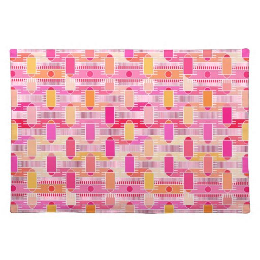 Art Deco Industrial Chic Pink Peach Gold Placemat Zazzle