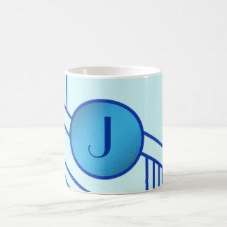 """Art Deco Initial """"J"""" Mug"""