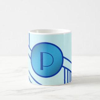 "Art Deco Initial ""P"" Mug"