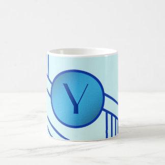 """Art Deco Initial """"Y"""" Mug"""