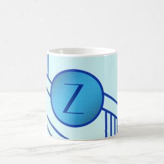 "Art Deco Initial ""Z"" Mug"