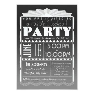 "Art Deco Invitation - Gatsby Style- Custom Text 5"" X 7"" Invitation Card"
